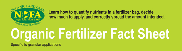 organic fertilizer fact sheet